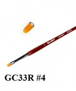 Кисть для геля Roubloff GC33R №4 синтетика язычок