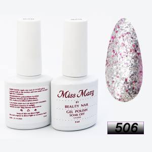 Гель-лак Miss Mary 8ml № 506 ( праздник блеска )