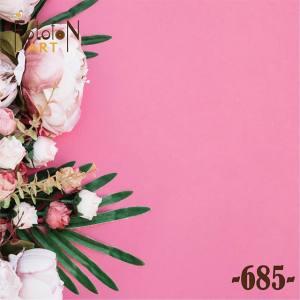 Фотофон виниловый 30см/30см Пионы на розовом фоне №685