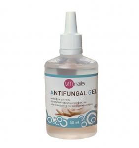 Антифунгал гель 50 мл с антибактериальным эффектом для очистки и дезинфекции рук Vitinails