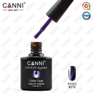 Гель-лак Canni кошачий глаз №278  (темно-фиолетовый, магнитный), 7.3 мл
