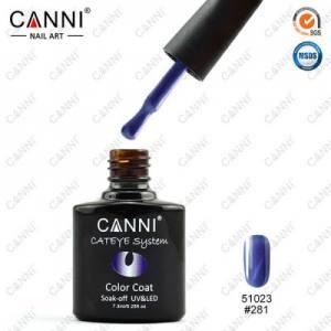 Гель-лак Canni кошачий глаз №281 синий, магнитный 7.3 мл