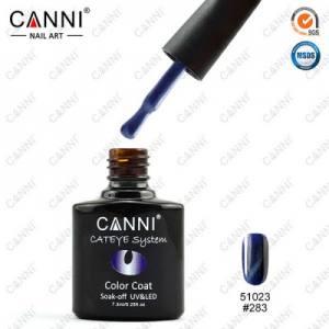 Гель-лак CANNI Cat Eye №283 (серо-синий, магнитный), 7.3 мл