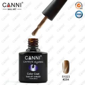 Гель-лак CANNI Cat Eye №284 (золотистый, магнитный), 7.3 мл