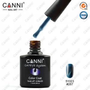 Гель-лак Canni кошачий глаз №287  (голубо-синий, магнитный), 7.3 мл