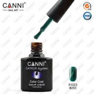 Гель-лак CANNI Cat Eye №293 (зеленый, магнитный), 7.3 мл