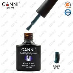 Гель-лак CANNI Cat Eye №294 (темный, серо-зеленый, магнитный), 7.3 мл