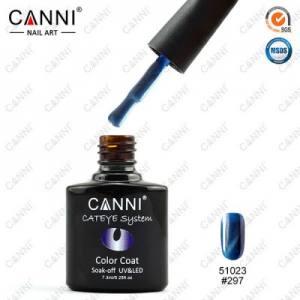 Гель-лак Canni кошачий глаз №297 (ярко-голубой, магнитный), 7.3 мл