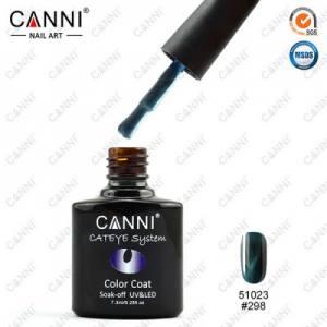 Гель-лак CANNI Cat Eye №298 (темный, сине-зеленый, магнитный), 7.3 мл