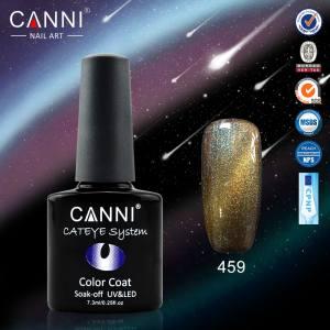 Гель-лак CANNI Chameleon Cat Eye №459 (коричневато-бирюзово-золотистый, магнитный, хамелеон), 7.3 мл