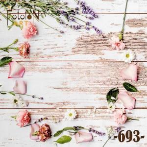 Фотофон виниловый 30см/30см Цветы и лепестки на дереве №693