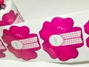 Формы для наращивания ногтей  розовый цветок