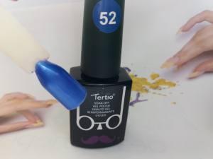 Гель-лак Tertio Baffo 10мл №52 синий шиммер
