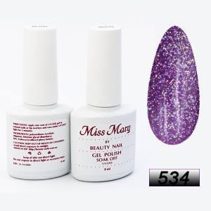 Гель-лак Miss Mary 8ml № 534 ( фиолетовое ассорти )