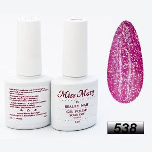 Гель-лак Miss Mary 8ml № 538 ( розовый микс )