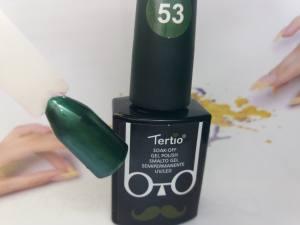 Гель-лак Tertio Baffo 10мл №53 изумрудный шиммер