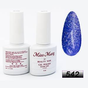 Гель-лак Miss Mary 8ml № 542 ( блестящий голубой )