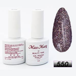 Гель-лак Miss Mary 8ml № 550 ( искрящийся шоколад )