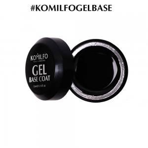 Гель-база Komilfo Gel Base Coat основа-корректор для гель-лака без кисточки, 5 мл