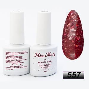 Гель-лак Miss Mary 8ml № 557 ( волшебный красный )