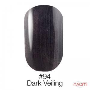 Гель-лак Naomi Gel Polish 94 - Dark Veiling, 6 мл мокрый асфальт с шимерами.
