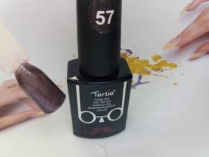 Гель-лак Tertio Baffo 10мл №57 черный с розовым блеском