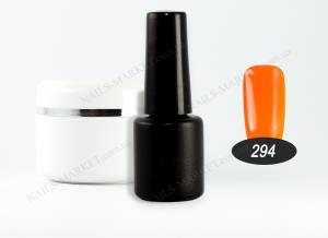 Гель-лак на розлив 5г №294 насыщенный яркий оранжевый
