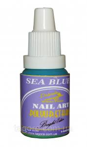 Краска для аэрографии синее море POLYURETHANE Bright Edition Blue 15мл