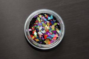Пайетки ромбы для дизайна ногтей, микс 12 цветов RG-MIX