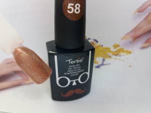 Гель-лак Tertio Baffo 10мл №58 бронзовый