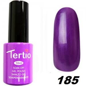 Гель-лак Tertio Фиолетовый перламутр №185 10 мл