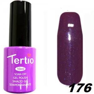 Гель-лак Tertio Фиолетовый с блестками №176 10 мл