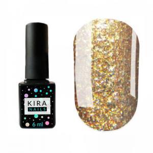 Гель-лак Kira Nails Shine Bright №006 (бронза с блестками), 6 мл