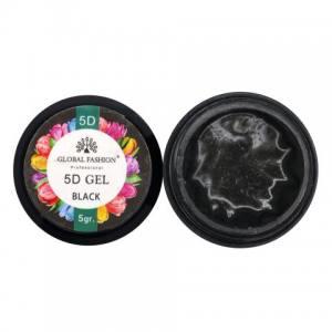 5D GEL для лепки Global 5 ml Black
