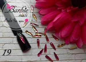 Стразы фигурные стекло BarbieNails 1шт №19