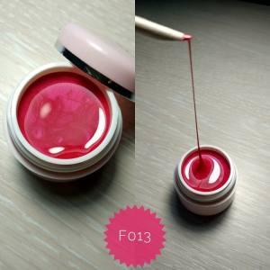 Эластичная гель краска Mett ( 3D, паутинка) № F013 розовый перламутр