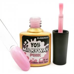 База камуфляж Yo!Nails RubberOid Milkyway PINK Soak Off Hard Base, 8 мл