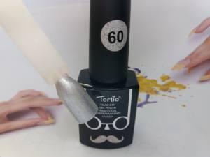 Гель-лак Tertio Baffo 10мл №60 серебро
