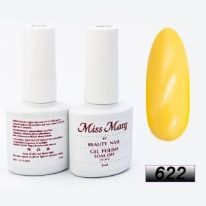 Гель-лак Miss Mary 8ml № 622 (солнечно-желтый)