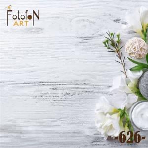 Фотофон виниловый 30см/30см Белые цветы 626