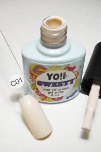 """Гель-лак YO!Nails """"SWEETY"""" № C01 (очень светлый розовый, эмаль), 8 мл"""
