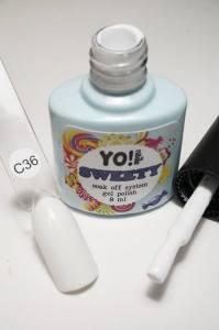 "Гель-лак YO!Nails ""SWEETY"" № C36 (белый, эмаль), 8 мл"
