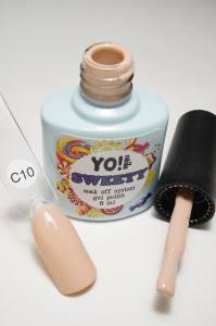 """Гель-лак YO!Nails """"SWEETY"""" № C10 (бледный персиково-розовый, эмаль), 8 мл"""