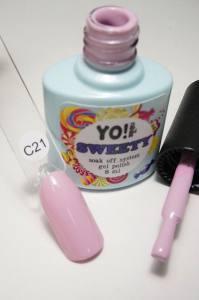 """Гель-лак YO!Nails """"SWEETY"""" № C21 (бледный лилово-розовый, эмаль), 8 мл"""