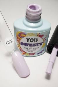 """Гель-лак YO!Nails """"SWEETY"""" № C22 (бледный светло-сиреневый, эмаль), 8 мл"""