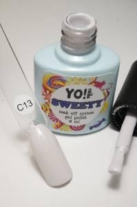 "Гель-лак YO!Nails ""SWEETY"" № C13 (серо-молочный, эмаль), 8 мл"