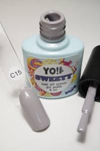 """Гель-лак YO!Nails """"SWEETY"""" № C15 (дымчатый серый, эмаль), 8 мл"""