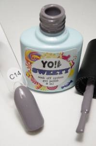 "Гель-лак YO!Nails ""SWEETY"" № C14 (фиолетово-серый, эмаль), 8 мл"