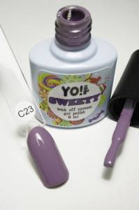 """Гель-лак YO!Nails """"SWEETY"""" № C23 (приглушенный фиолетовый, эмаль), 8 мл"""