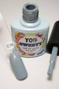 """Гель-лак YO!Nails """"SWEETY"""" № C16 (серый, эмаль), 8 мл"""